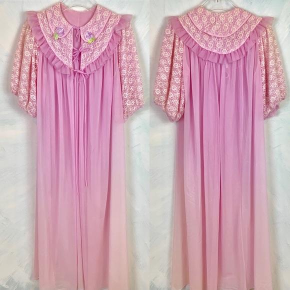 e735354da45c89 gmc Intimates & Sleepwear | Stunning Vintage Nightie Negligee Sheer ...